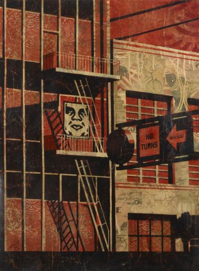 Shepard Fairey-SF Fire Escape-2011