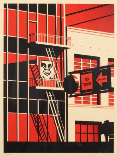 Shepard Fairey-SF Fire Escape Prints-2011