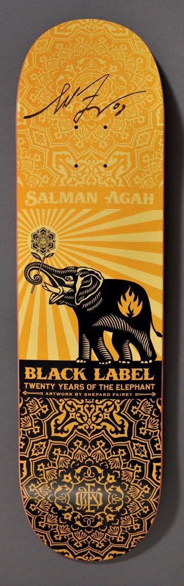 Shepard Fairey-Salman Agah, Black label-2008