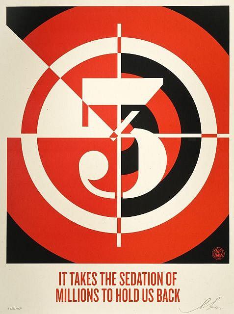 Shepard Fairey-Sedation Of Millions-2012