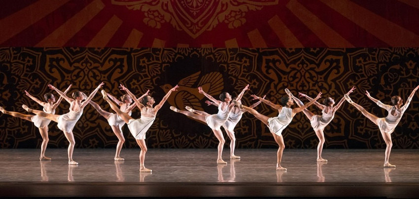 Shepard Fairey - Set Designs for Justin Peck's Heatscape, image courtesy of Miami City Ballet