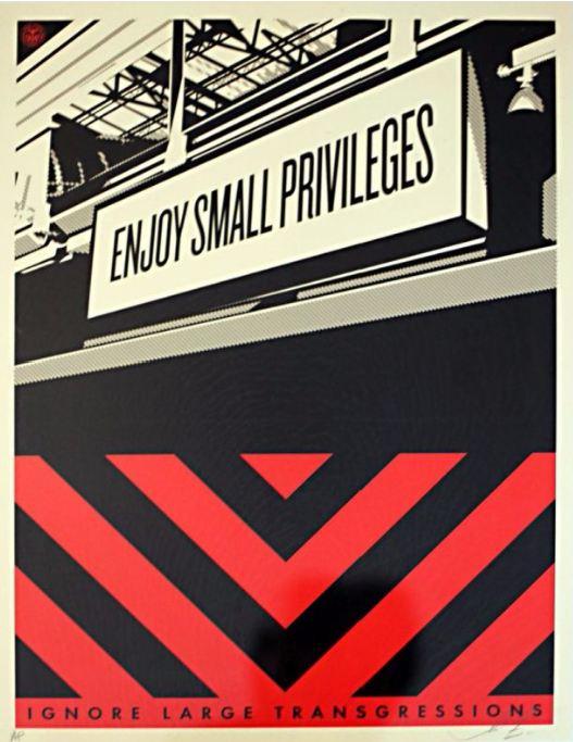 Shepard Fairey-Small Privileges-