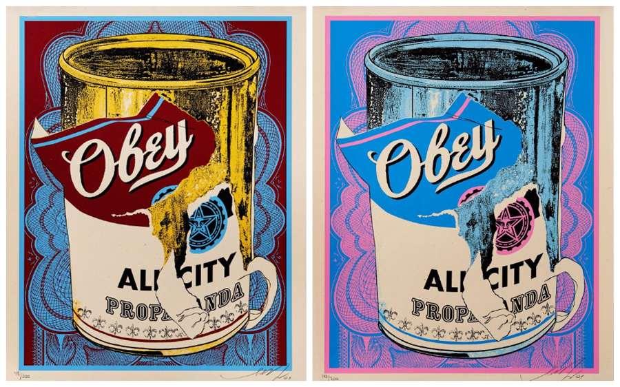Shepard Fairey-Soup Cans-2009
