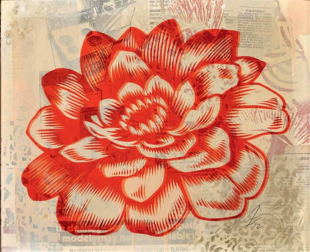 Shepard Fairey-Station to Station Flower 3-2012