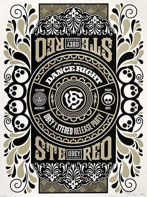 Shepard Fairey-Stereo Skateboard-2009