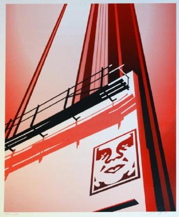 Shepard Fairey-Sunset & Vine Billboard-2011