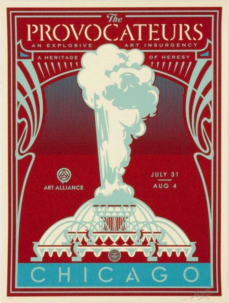 Shepard Fairey-The Provocateurs (Chicago) - Blue Version-