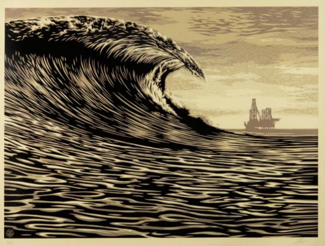 Shepard Fairey-This New Wave is a Little Slick for my Taste-2014