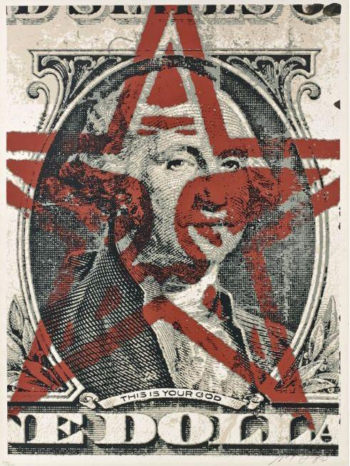Shepard Fairey-This is Your God Dollar-2003