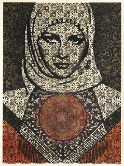 Shepard Fairey-Untitled (Arab Woman)-2007