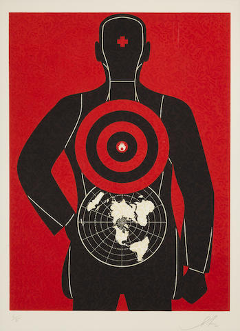 Shepard Fairey-Untitled (Global Target), from the Target Series-2012