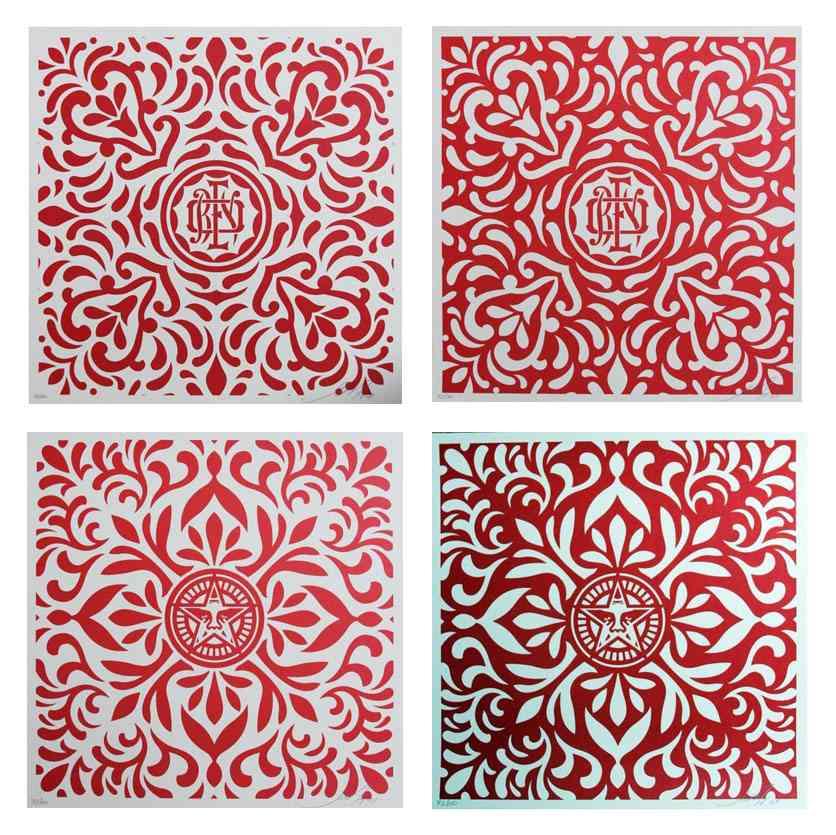 Shepard Fairey-Venice Fabric Pattern Set-2009