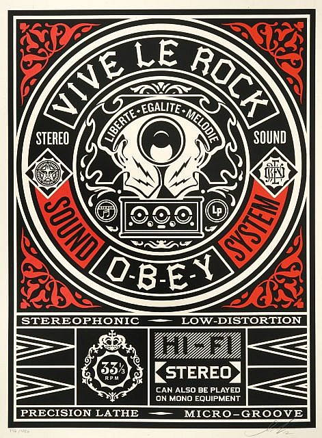 Shepard Fairey-Vive le Rock-2012