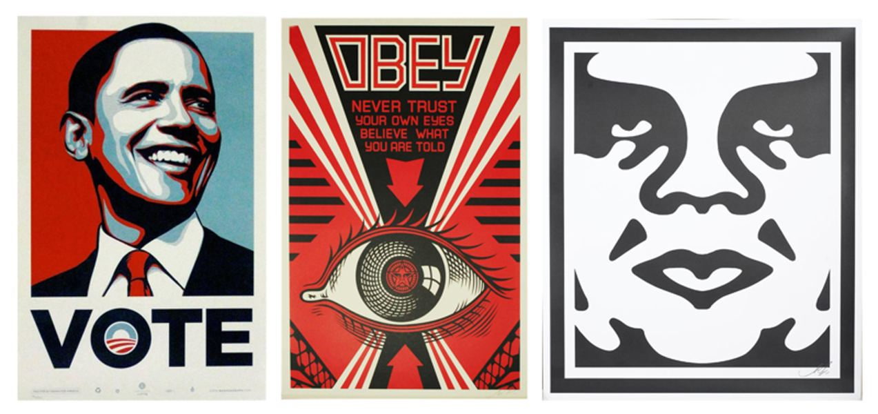 Shepard Fairey-Vote - Obey Eye - Andre the Giant-