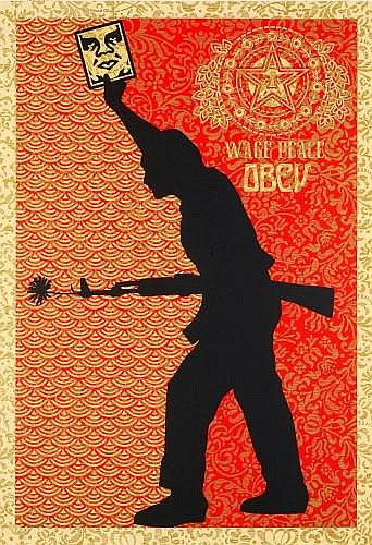 Shepard Fairey-Wage Peace-2007