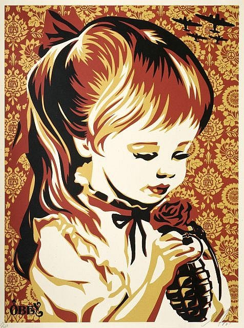 Shepard Fairey-War By Numbers (Red Edition)-2007