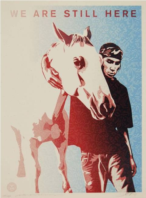 Shepard Fairey-We are Still Here-