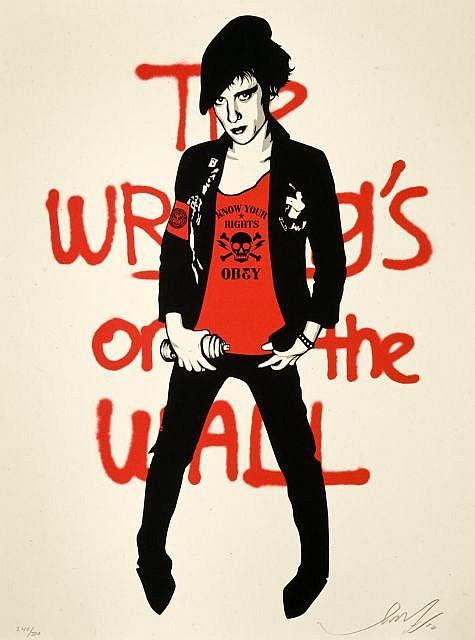 Shepard Fairey-Writing on The Wall Cream-2010