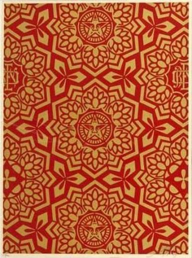 Shepard Fairey-Yin Yang in Gold-