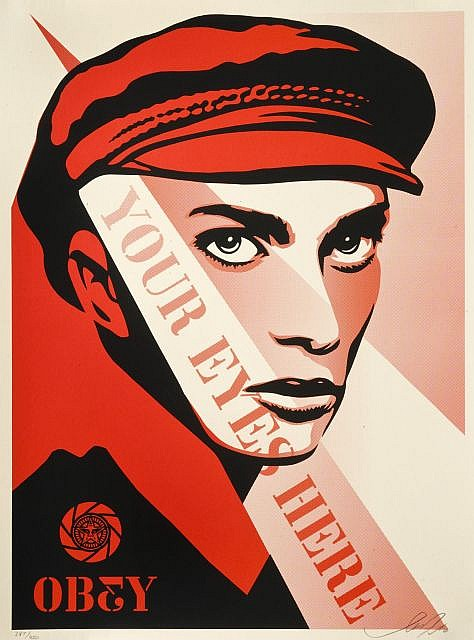 Shepard Fairey-Your Eyes Here-2010