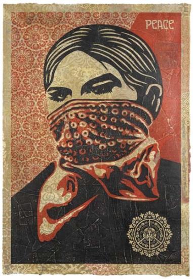 Shepard Fairey-Zapatista Woman HPM-2005