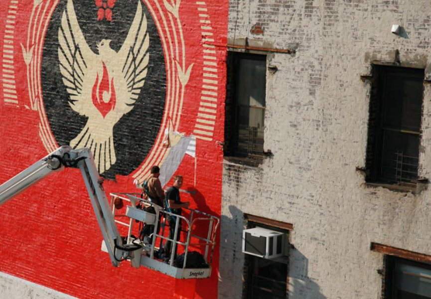 Shepard Fairey does it for L.I.S.A.