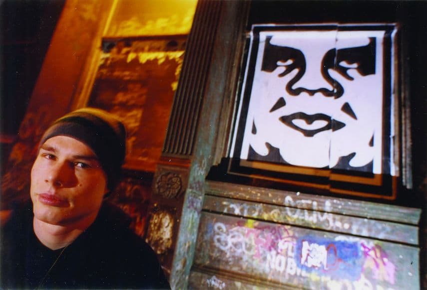 Shepard Fairey in San Francisco, 1999