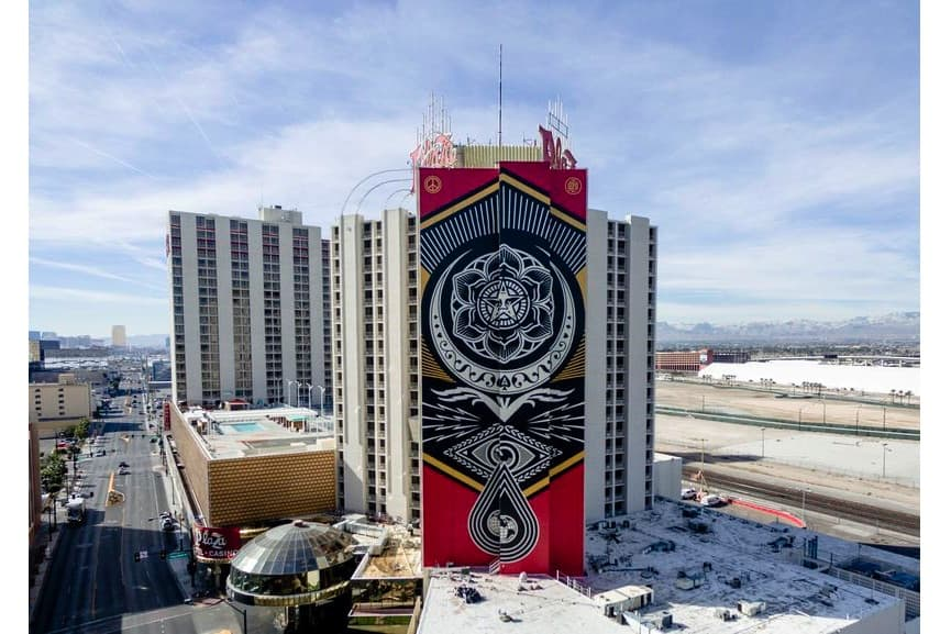 Shepard Fairey mural completed