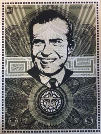 Shepard Fairey-Nixon money-2003