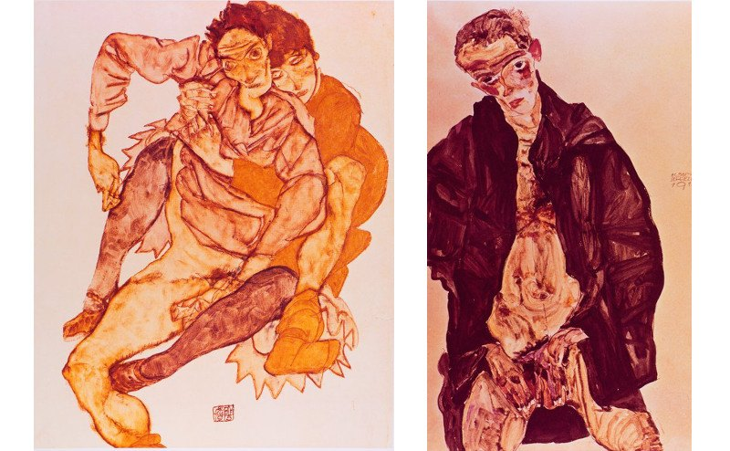 Sherrie Levine - After Egon Schiele series, 1982, appropriation art