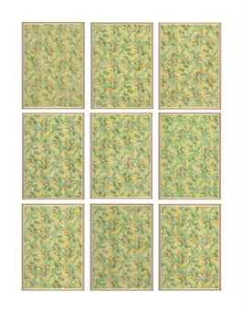 Sherrie Levine-Flower Papers: 1-9 Green Roses-2005