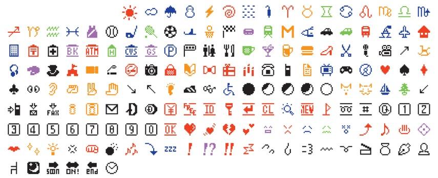 Shigetaka Kurita - For NTT DOCOMO, Inc., Japan, est. 1991 Emoji 1998-1999