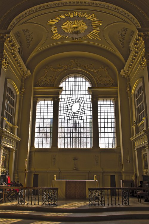 Shirazeh Houshiary and Horne's window for St. Martin in the Fields, 2008.