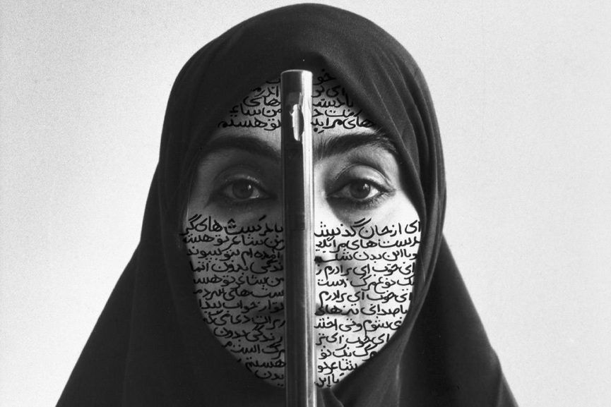 Shirin Neshat - Rebellious Silence, 1994, RC print and ink