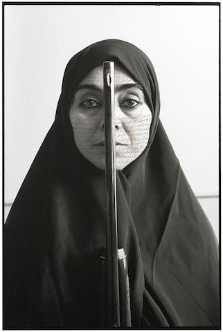 Shirin Neshat-Rebellious Silence, from Women of Allah series-1994