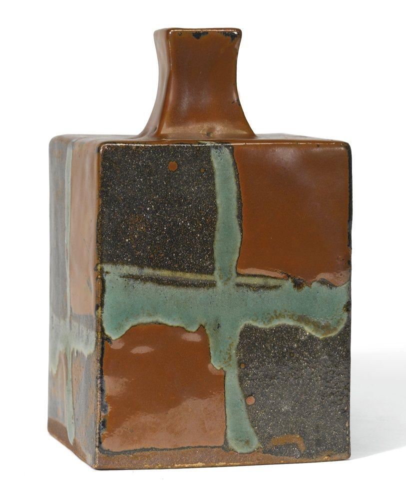Shoji Hamada-Square Bottle-1950
