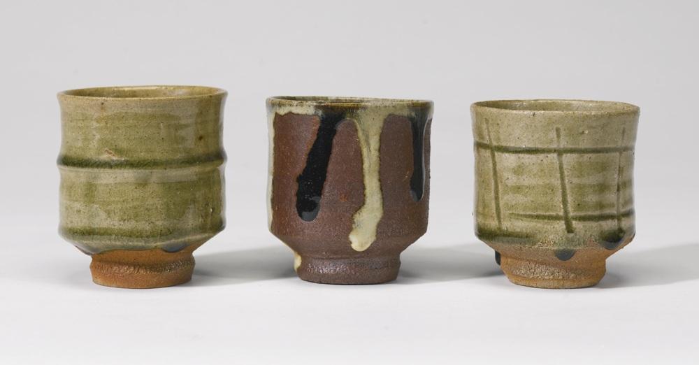 Shoji Hamada-Three Tea Cups-1950