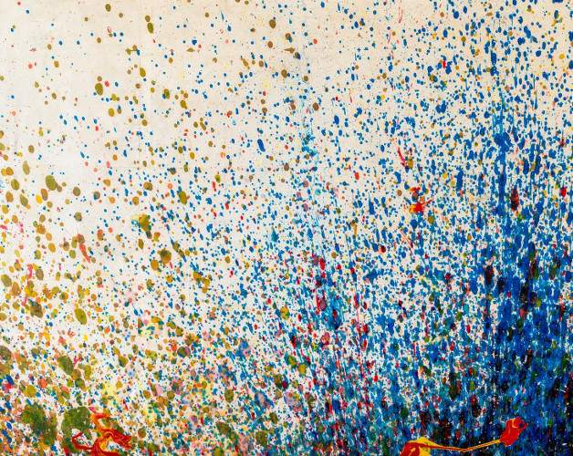 Shozo Shimamoto - Bottle Crash, 1999 (blue)