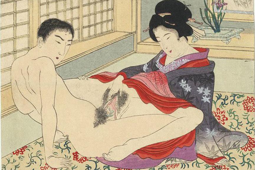 Japanese pornographic art