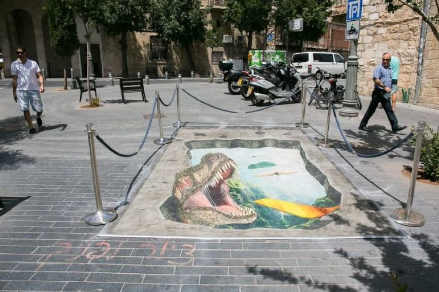 Sidewalk Art Jerusalem