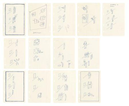 Sigmar Polke-Zeichnungen (Composition With Small Figures 1 To 13)-1971