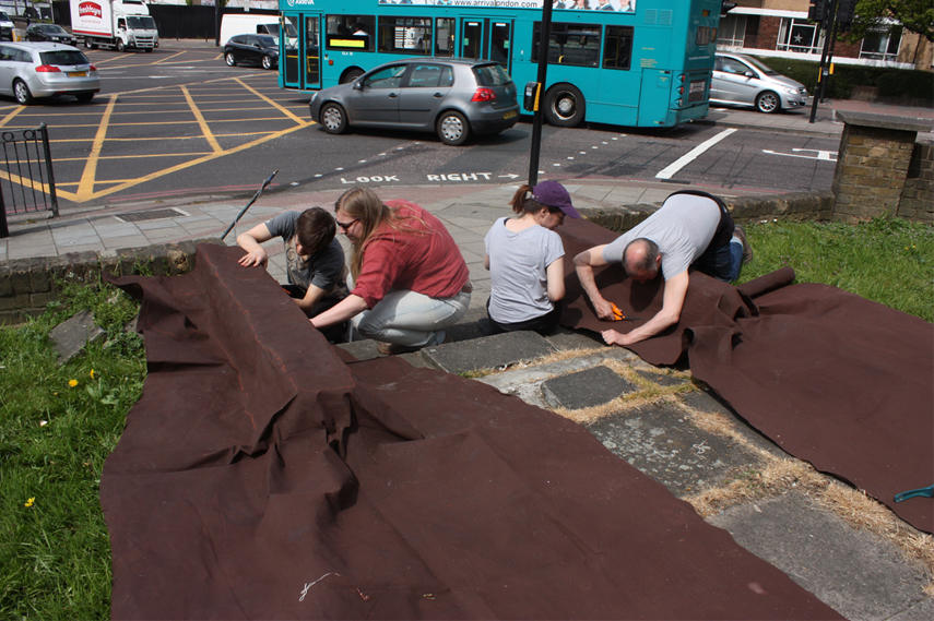 Simon Callery - Christchurch Road - Working with Students from UAL Wimbledon on Location in Streatham, London SW2