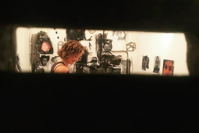 Simona Frillici - in her studio