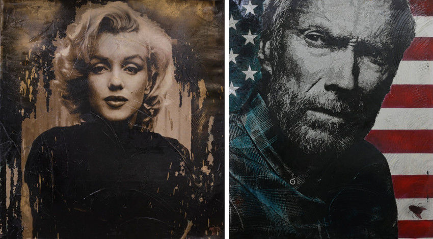 Simone Albert - Sex is a Part of Nature, Marilyn Monroe (Left) - Pale Rider, Clint Eastwood (Right)