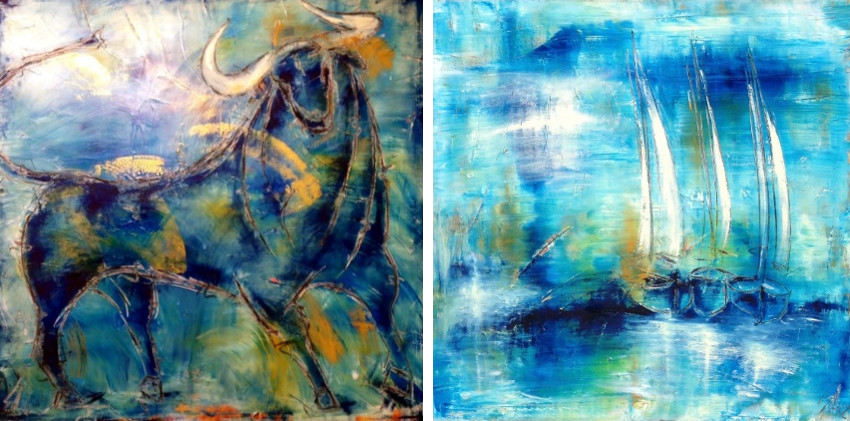 Simone Albert - Untitled #1 (Left) - Untitled #2 (Right)