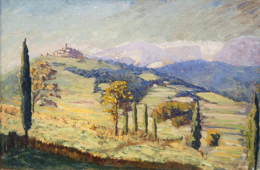 Sir Winston Churchill - A Distant View of Eze, 1930