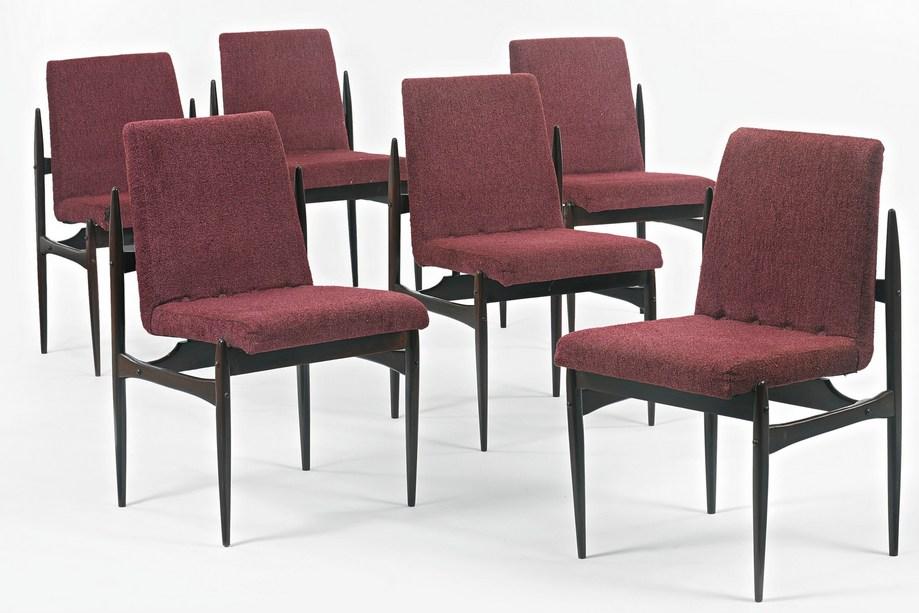 Six Brazilian Dining Chairs-1950