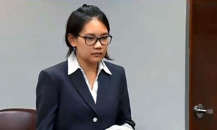 Siyuan Zhao in Court. Image via nydailynews.com