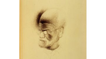 Sketch of Sigmund Freud by Salvador Dalí