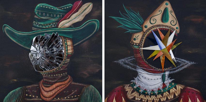Skount - Inner Portrait 3, 2015 - Inner Portrait 4, 2015